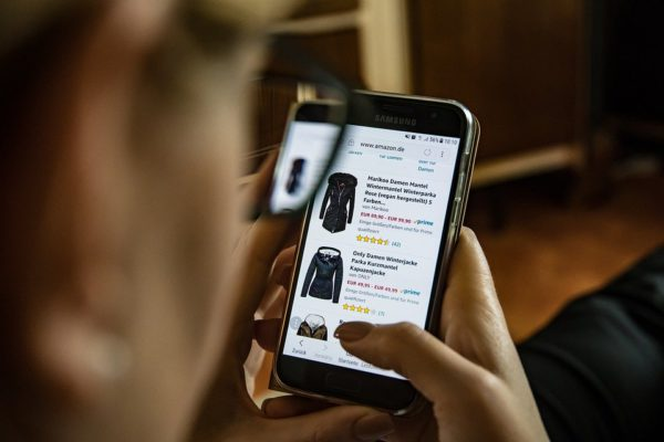 En Ligne, Shopping, Vêtements, Téléphone Mobile